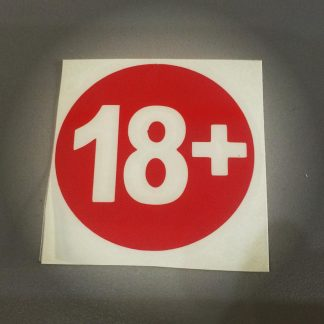 наклейка 18 +