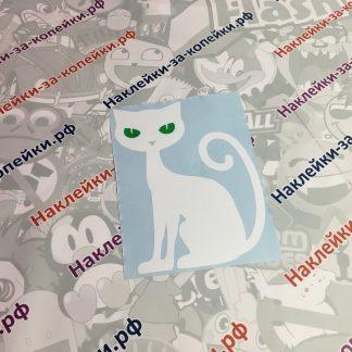 Наклейка на авто. Кошка. Животные. Зеленые глаза
