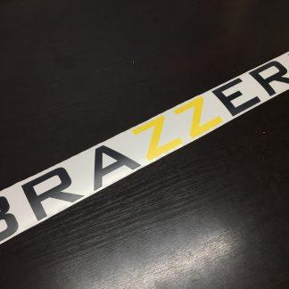 Наклейка на авто. Браззерс. Brazzers. Красивая наклейка. Текст. Два цвета