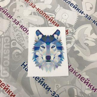 наклейка на авто. волк. абстрактные наклейки. животные. охота. красивая наклейка