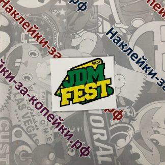 Наклейка на автомобиль. JDM fest. фестиваль ждм. япония. ждм