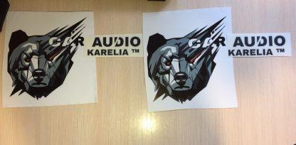 наклейка car audio karelia волк с надписями