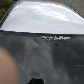 наклейка текст Dinamic state technology цвет белый