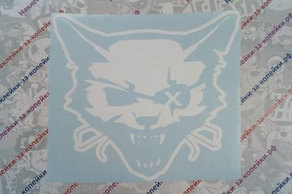 наклейка кот-пират белая повязка на глазу